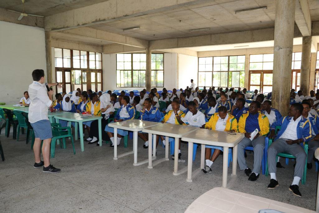 Presentation at Alpha Secondary School