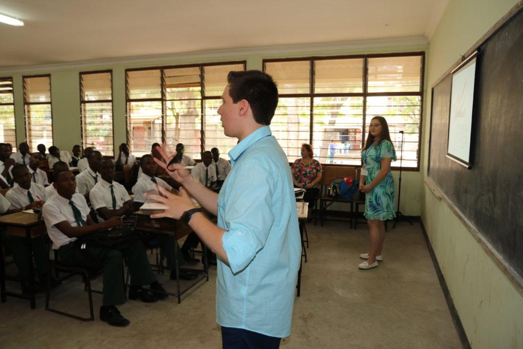 Presentation at Azania Secondary School