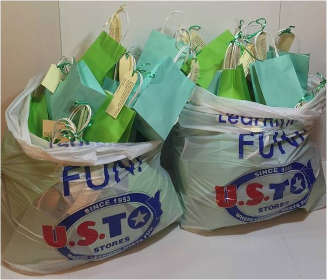 Activity bags ready to be delivered
